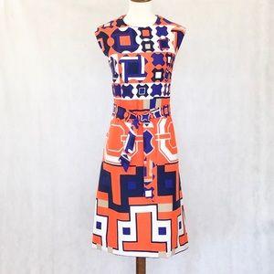 Lanvin 1960's Vintage Op-Art Geometric Dress